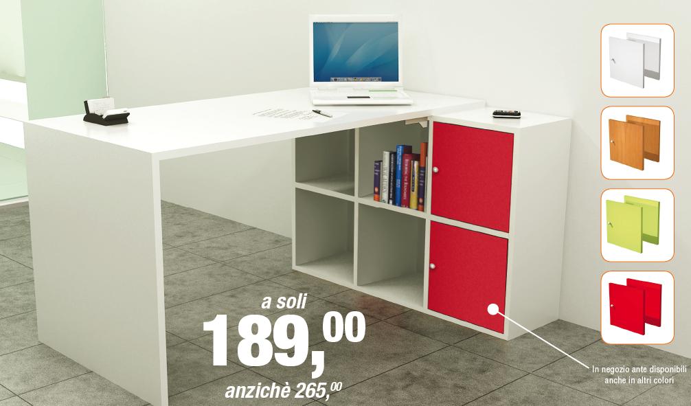 Scrivania e libreria Home-Office - Distribuzione Ufficio